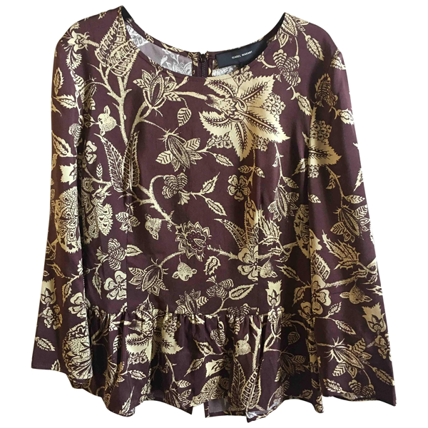 Pre-owned Isabel Marant Brown Silk  Top