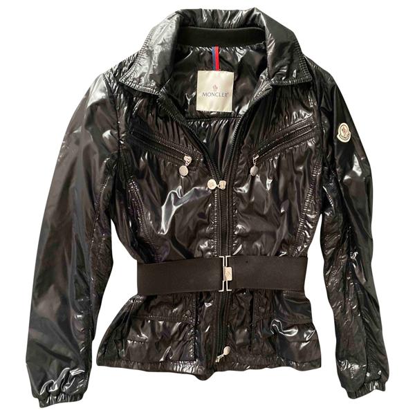 Pre-owned Moncler Black Leather Jacket