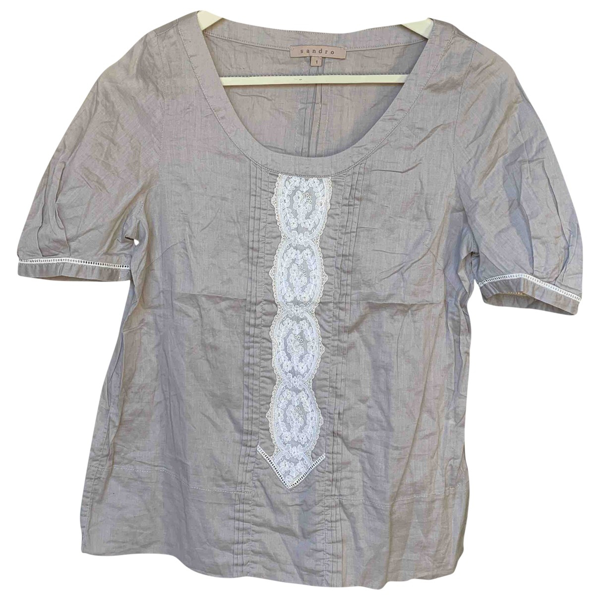 Pre-owned Sandro Grey Cotton  Top