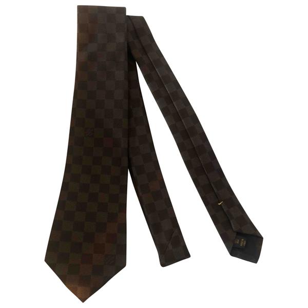 Pre-owned Louis Vuitton Brown Silk Ties