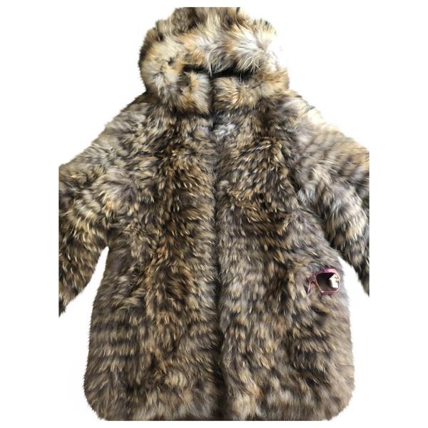 Pre-owned Yves Salomon Beige Fur Jacket