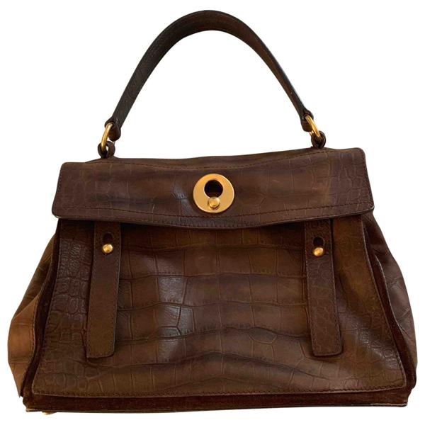 Pre-owned Saint Laurent Muse Ii Brown Leather Handbag