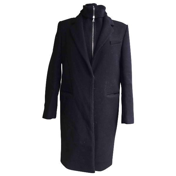 Pre-owned Sandro Black Wool Coat