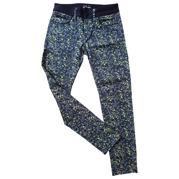 Pre-owned The Kooples Yellow Cotton - Elasthane Jeans
