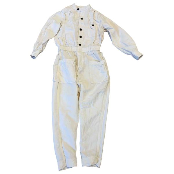 Pre-owned Frame White Linen Jumpsuit