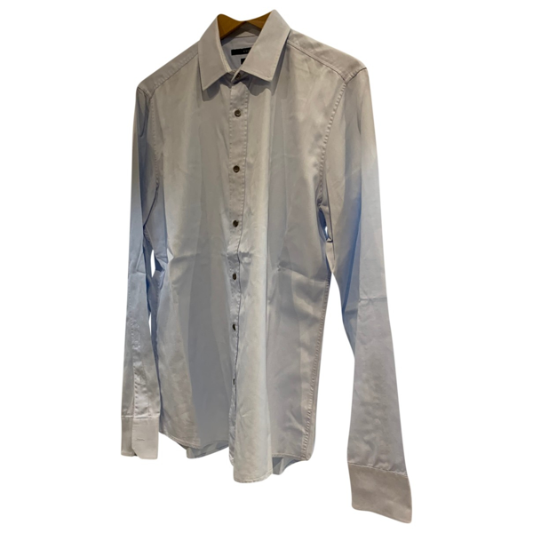 Pre-owned Gucci Blue Cotton Shirts