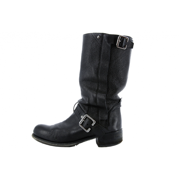 Pre-owned Dior Black Leather Boots