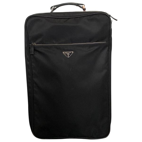 Pre-owned Prada Black Cloth Travel Bag