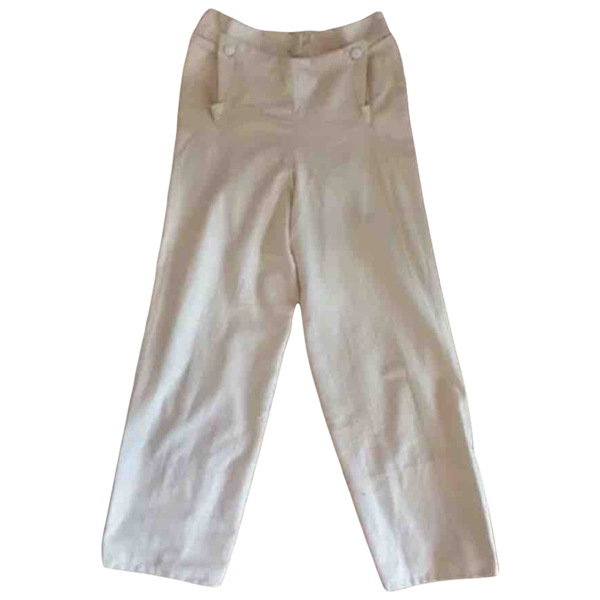 Pre-owned Vivienne Westwood Yellow Cotton Trousers