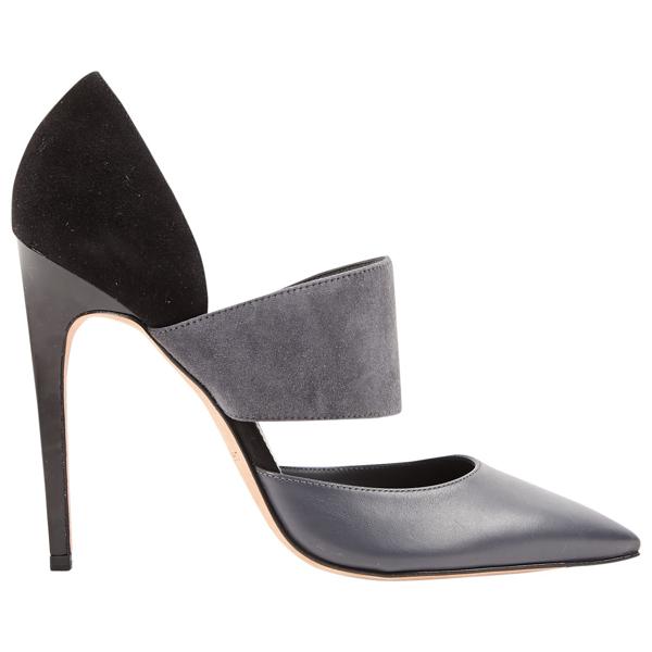 Pre-owned Calvin Klein Grey Leather Heels