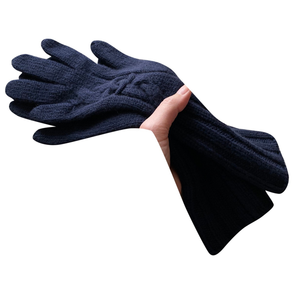 Pre-owned Chanel Blue Cashmere Gloves