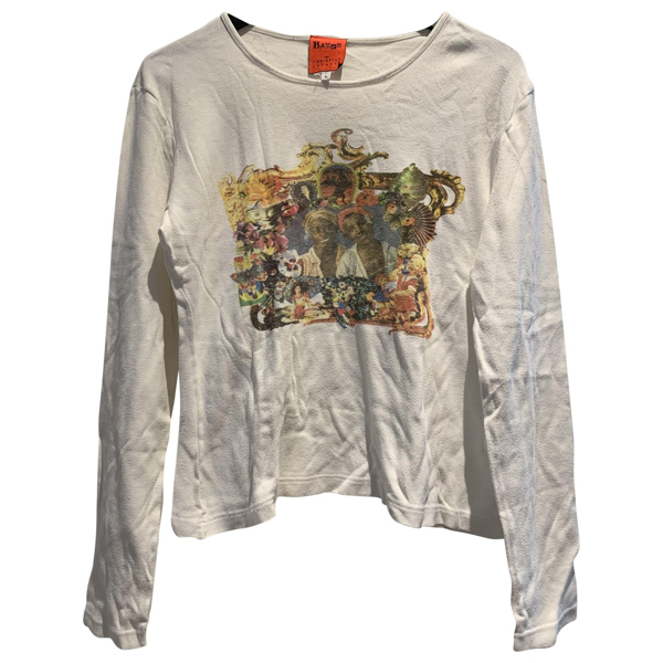 Pre-owned Christian Lacroix White Cotton  Top