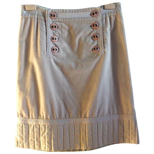 Pre-owned Marc Jacobs Beige Velvet Skirt