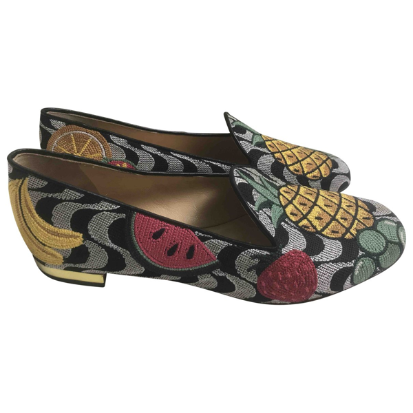 Pre-owned Charlotte Olympia Multicolour Cloth Flats