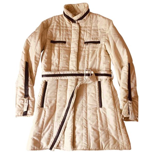 Pre-owned Marella Ecru Leather Jacket