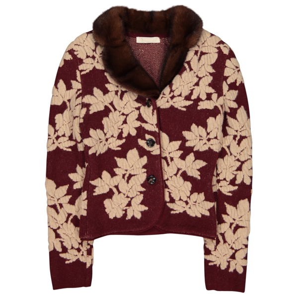Pre-owned Valentino Burgundy Wool Knitwear