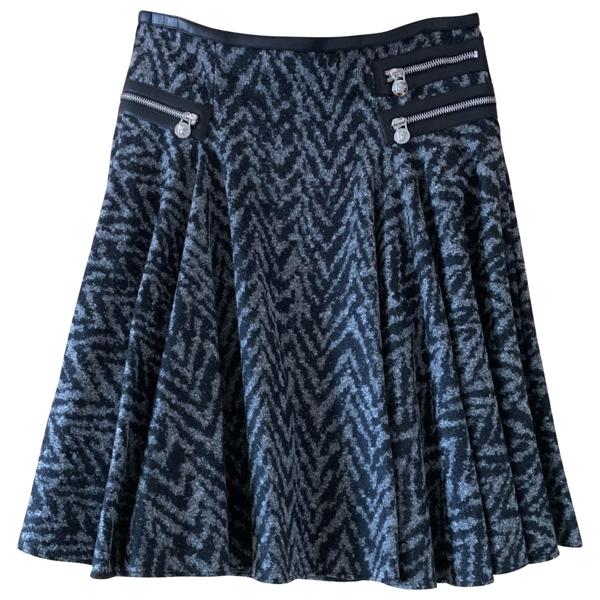 Pre-owned Fendi Grey Wool Skirt