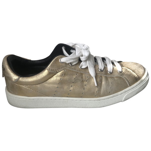 Pre-owned Dsquared2 Gold Leather Trainers