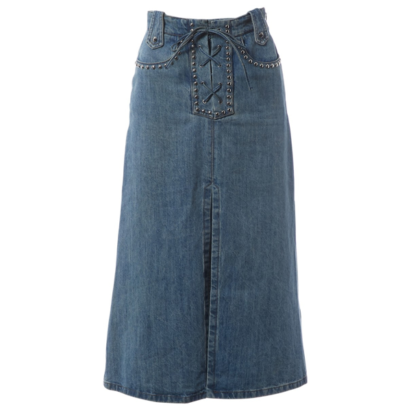 Pre-owned Miu Miu Blue Cotton Skirt
