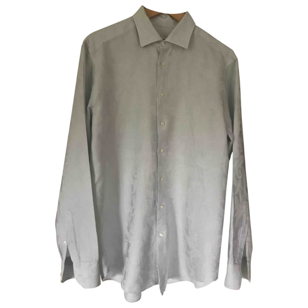 Pre-owned Etro Grey Cotton Shirts