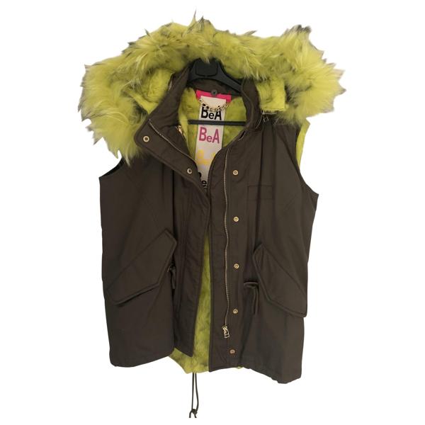 Pre-owned Beayukmui Green Coat