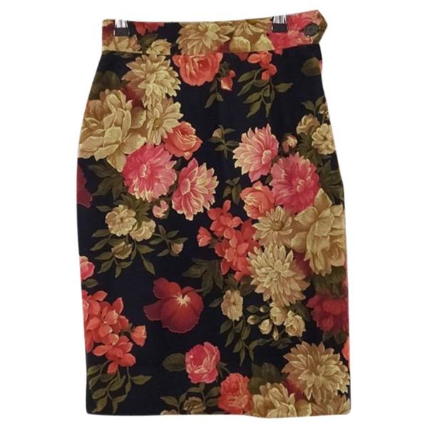 Pre-owned Moschino Multicolour Velvet Skirt