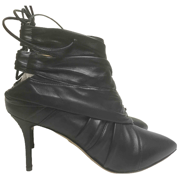 Pre-owned Charlotte Olympia Black Leather Ankle Boots