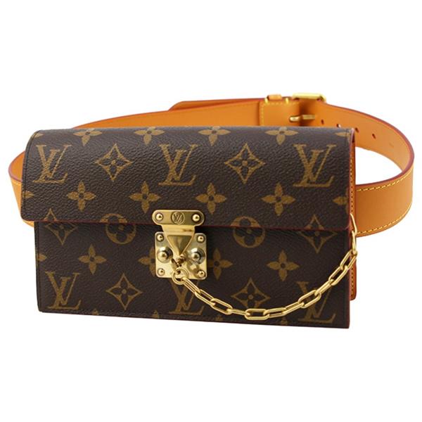 Pre-owned Louis Vuitton Brown Cloth Clutch Bag