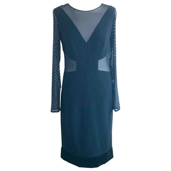 Pre-owned Emilio Pucci Black Silk Dress