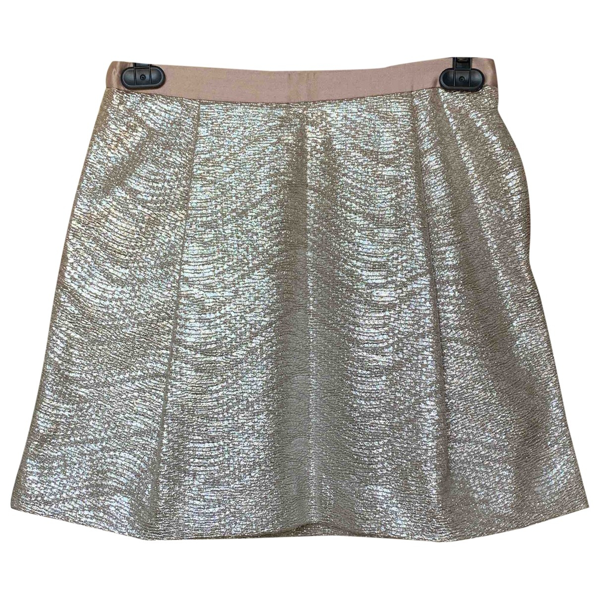 Pre-owned Tory Burch Metallic Skirt