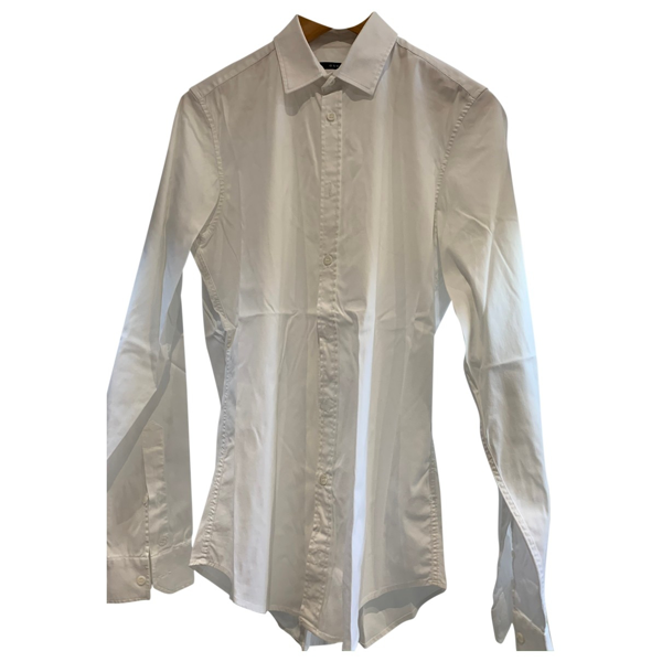 Pre-owned Gucci White Cotton Shirts