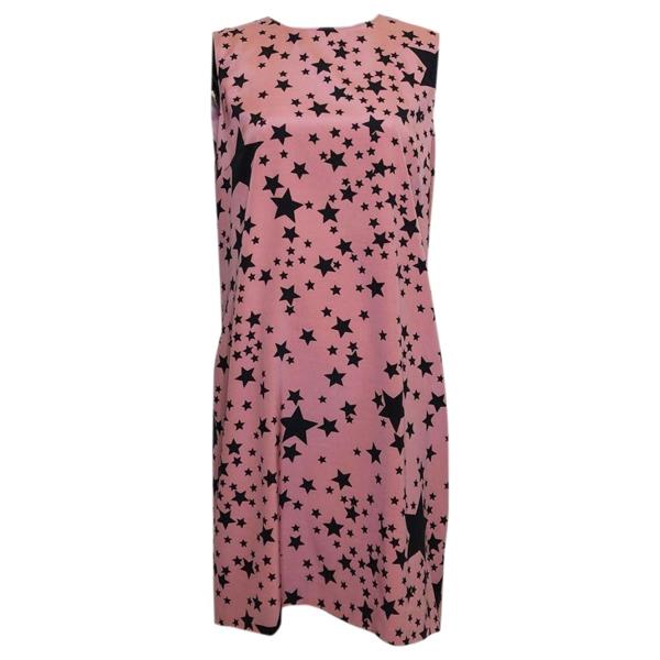 Pre-owned Dolce & Gabbana Pink Silk Dress