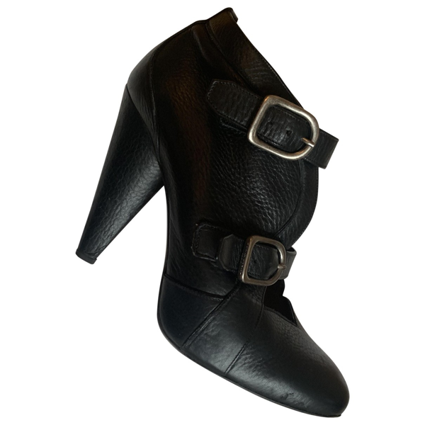 Pre-owned Sonia Rykiel Black Leather Ankle Boots