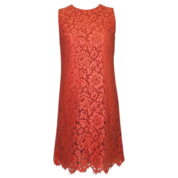 Pre-owned Dolce & Gabbana Orange Lace Dress