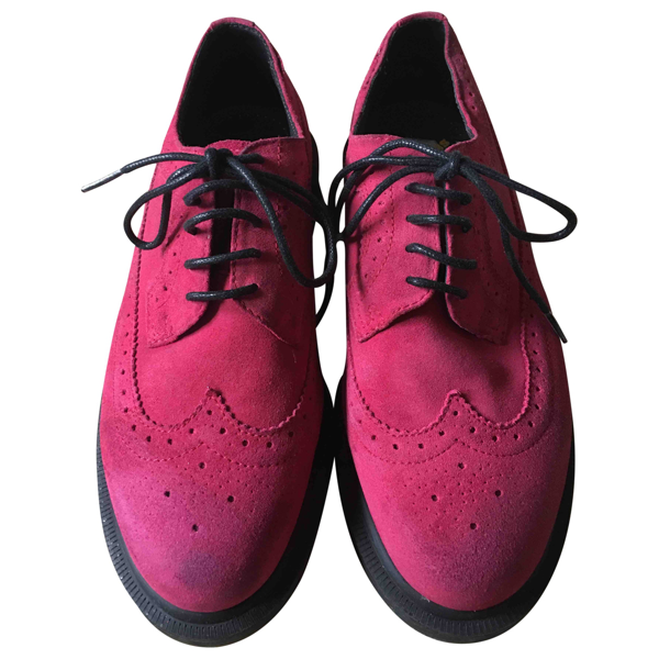 Pre-owned Dr. Martens Pink Suede Lace Ups