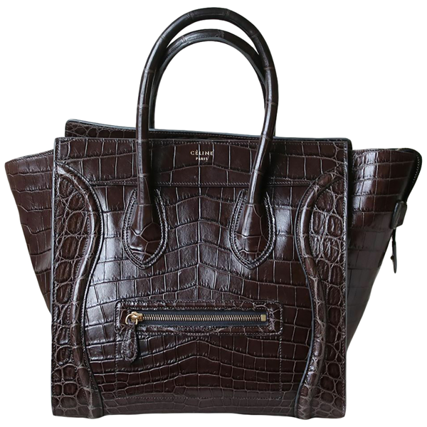 Pre-owned Celine Luggage Brown Crocodile Handbag