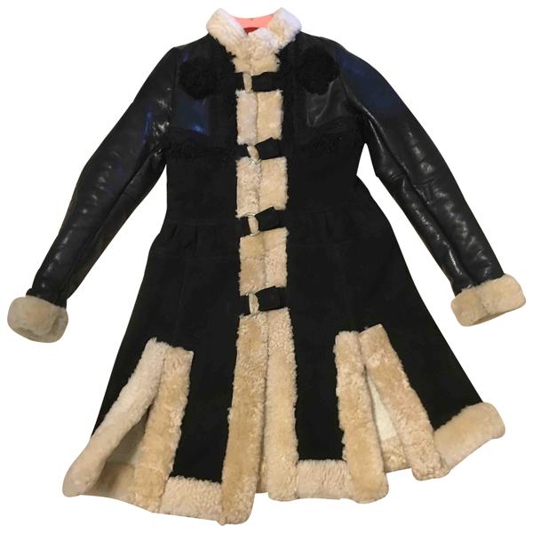 Pre-owned Manoush Black Shearling Coat