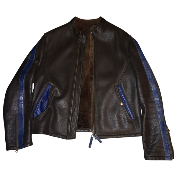 Pre-owned Emporio Armani Brown Leather Jacket