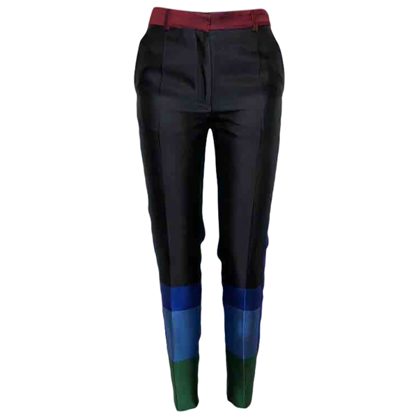 Pre-owned Celine Black Silk Trousers