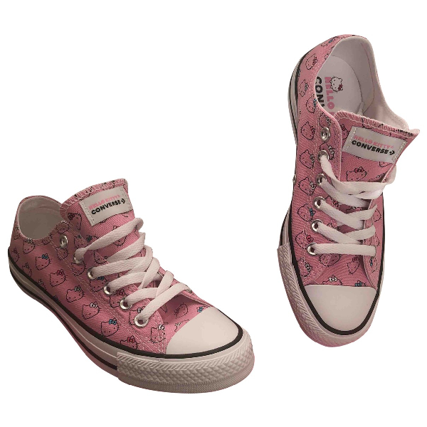 Pre-owned Converse Pink Cloth Trainers