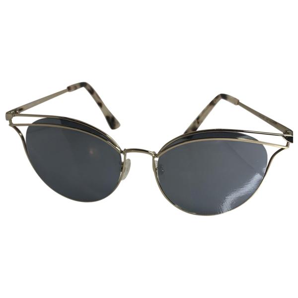 Pre-owned Alexander Mcqueen Gold Metal Sunglasses