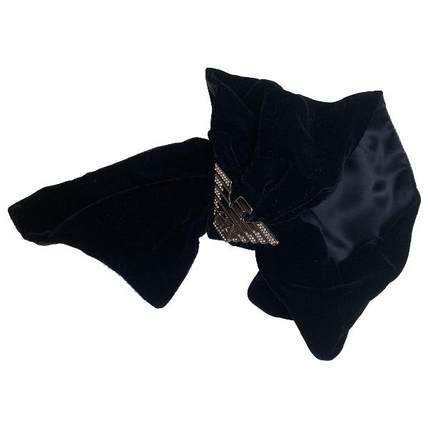 Pre-owned Emporio Armani Black Scarf