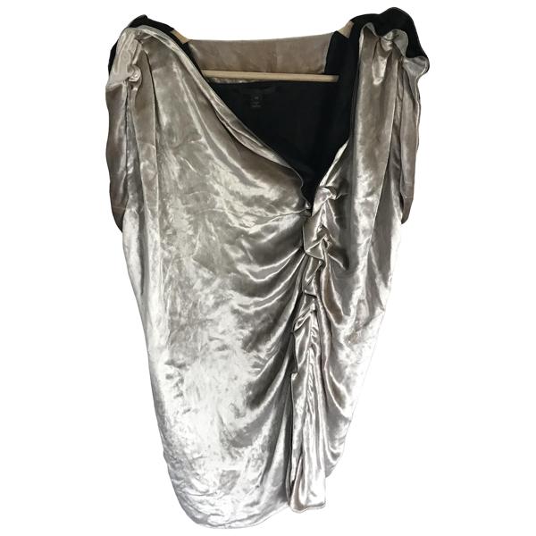 Pre-owned Louis Vuitton Metallic Velvet Dress