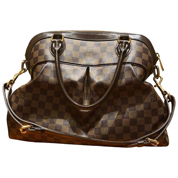 Pre-owned Louis Vuitton Trevi Brown Cloth Handbag