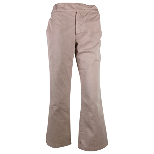 Pre-owned Marni Pink Cotton Trousers
