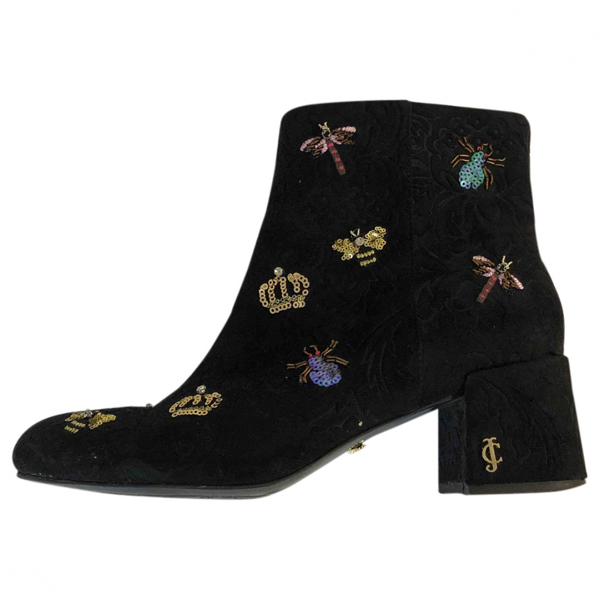 Pre-owned Juicy Couture Black Suede Boots