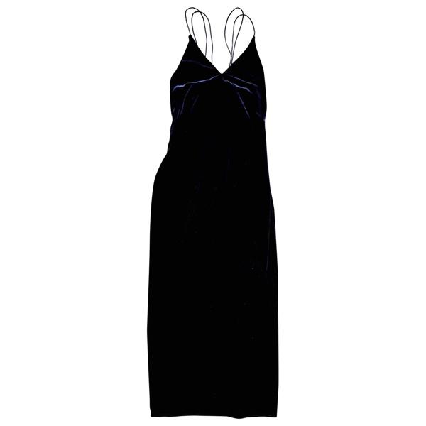 Pre-owned Won Hundred Blue Velvet Dress
