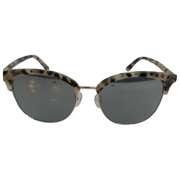Pre-owned Alexander Mcqueen Beige Metal Sunglasses