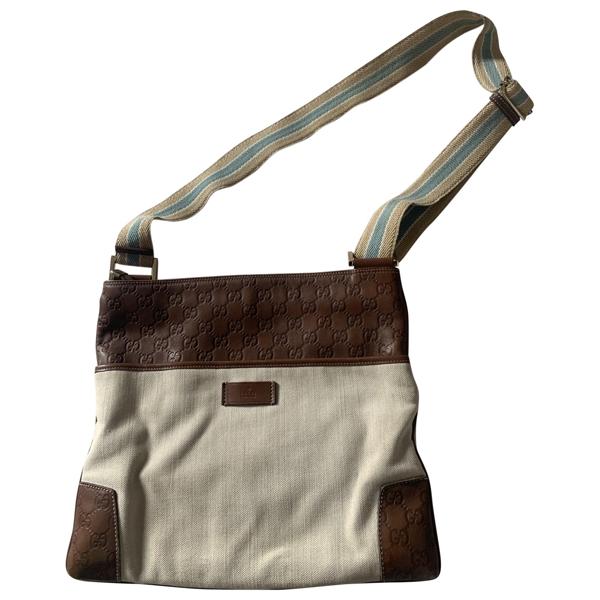 Pre-owned Gucci Ecru Cloth Handbag