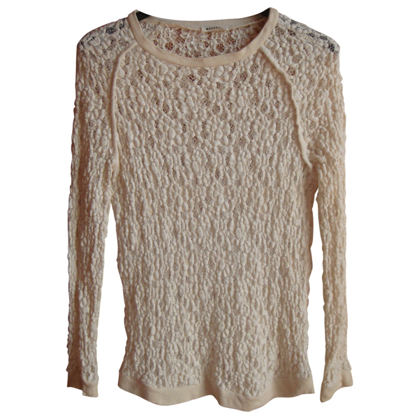 Pre-owned Masscob Beige Cotton  Top